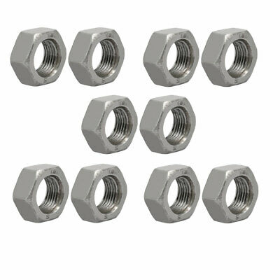 uxcell 30pcs M12 x 1.25mm Pitch Metric Fine Thread Carbon Steel Left Hand Hex Nuts