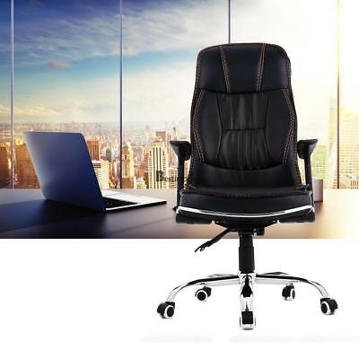 Office Gaming Chair PU Leather Seat Racing Swivel Adjustable Back Height Home