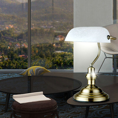 Reading Writing Night Table Lamp Art Nouveau Antique Brass Sleep Dinner Room