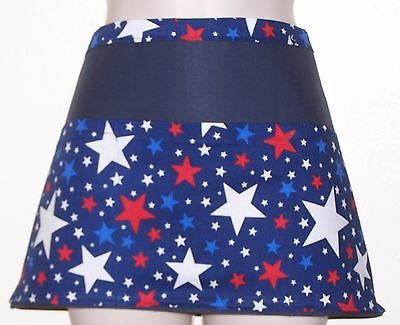 Blue apron Stars Red white and blue waitress server waiter apron 3 pockets