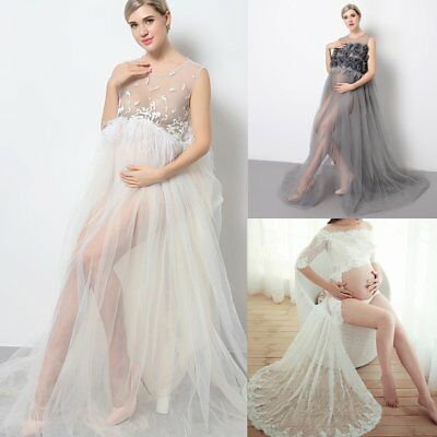 PREGNANT WOMEN MATERNITY Maxi Gown Evening Wedding Party Dress ...