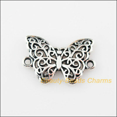 15Pcs Tibetan Silver Tone Animal Butterfly Charms Pendants Connectors 14x20mm