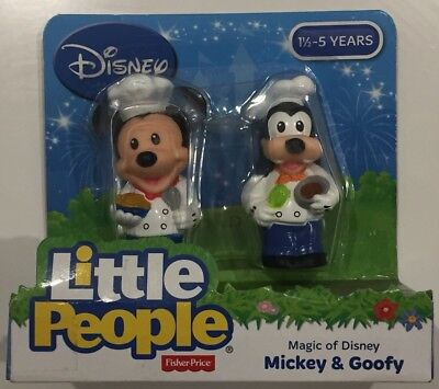 NEW Fisher-Price Little People Magic Of Disney Mickey & Goofy 2-Pack