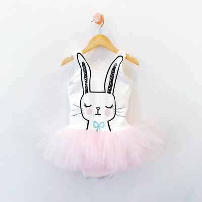 AU Stock Rabbit Princess Dress Toddler Baby Girls Party Prom Tutu Tulle Dresses