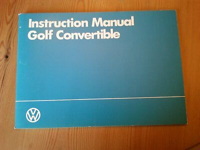 VW Golf Mark 1 convertible handbook