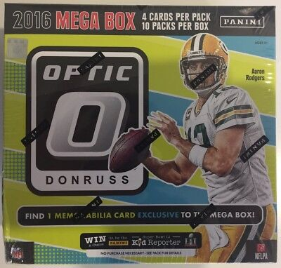 2016 Panini Donruss Optic NFL Football Mega Box - New & Sealed