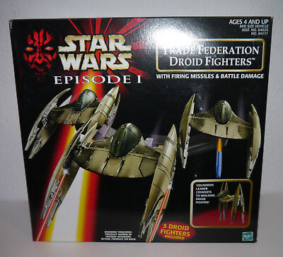 Star Wars Trade Federation Droid Fighters Episode 1 By Hasbro