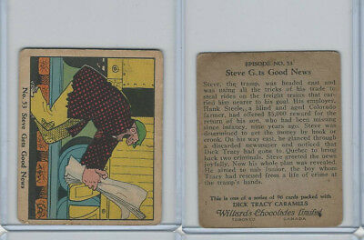 V106 Willards Chocolates, Dick Tracy, 1930's, #53 Steve Gets Good News