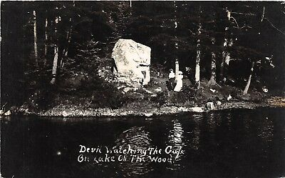 SS Resolute Playing On The Lake Of The Woods Fay H Young Warroad,MN Vtg Postcard