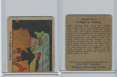 V106 Willards Chocolates, Dick Tracy, 1930's, #78 A Highway Hold-Up
