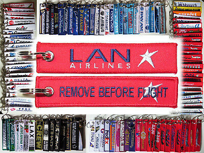 Keyring LAN Airlines Remove Before Flight tag keychain