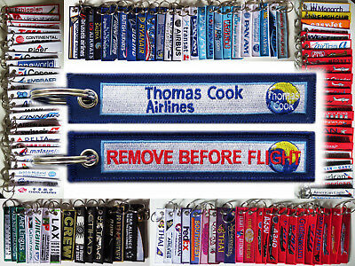 Keyring THOMAS COOK AIRLINES Remove Before Flight keychain for Pilot Crew