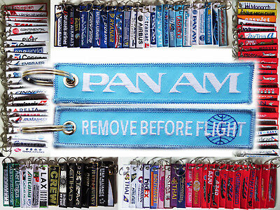 Keyring PAN AM BLUE Remove Before Flight tag keychain