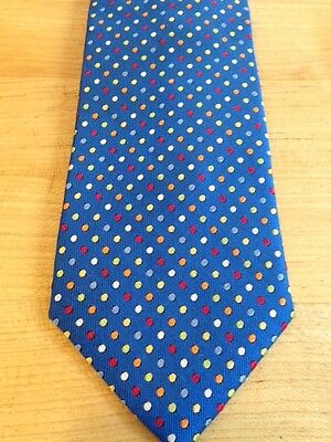 NEW  BOYS 14 in ZIPPER TIES  ROYAL BLUE SILK DOTS*****SALE**********TALBOTS