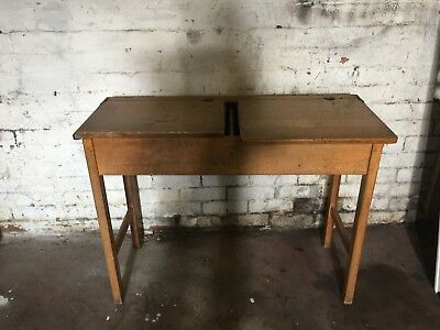 Vintage school double desk