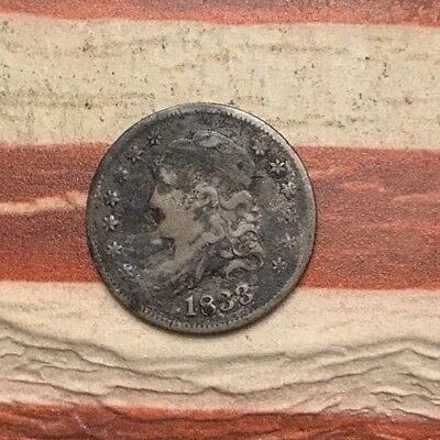 1833 5C Capped Bust Half Dime 90% Silver Vintage US Coin #MP91 Very Sharp