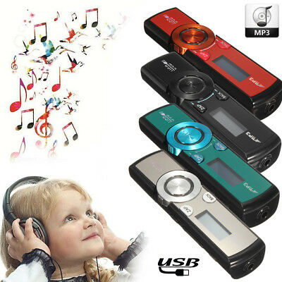 MP3 Player 32GB LCD Media FM Radio USB Micro SD / TF Card + Headphones + Clip