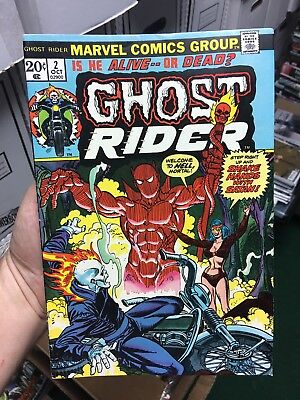 Ghost Rider #2! In FINE Condition! 1st Full Appearance Of Daimon Hellstrom! RARE
