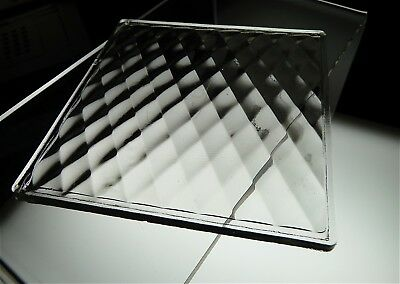 antique LUXFER prism GLASS TILE diamond DECO eapg QUILTED tudor