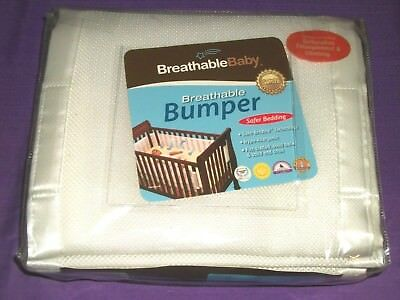 BreathableBaby Breathable Crib Bumper White Hypo-Allergenic Promotes Air-Flow