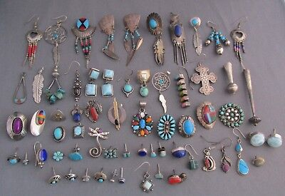 3D Vintage Old Pawn Sterling 64 Piece Mixed Jewelry Lot 143.4G