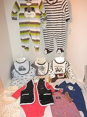 NWT $256 Wholesale Lot 21-pc Toddler Boys Clothes (3 Months and 6 Months)