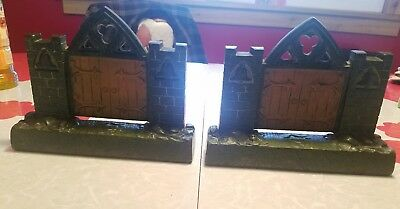 Judd Antique Cast Iron Arthitectural Bookends Mission Church Gate Rare Genuine