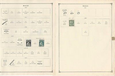 Macao Collection 1884-1993 on 20 Scott International Pages, Portugal Colony