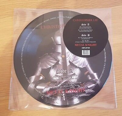 "Christopher Lee - Metal Knight - RSD 2017 10"" Picture Disc Vinyl EP CMPLEP109"
