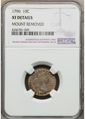1796 Draped Bust Dime 10C Ngc Xf Details, Jr-1, R.3, Xf40 Price Guide = $11,000!