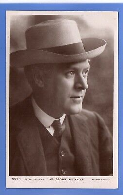 Old Vintage Rp Postcard Edwardian Actor Mr George Alexander