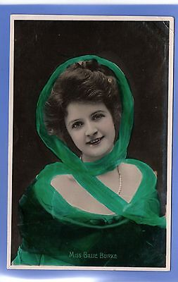 Old Vintage 1906 Rp Postcard Edwardian Actress Miss Billie Burke