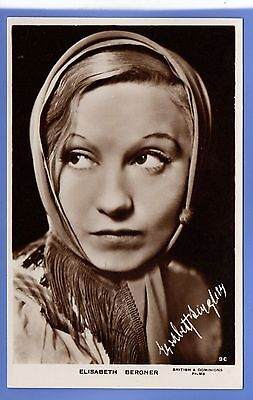 Old Vintage Rp Postcard European Actress Elisabeth Bergner