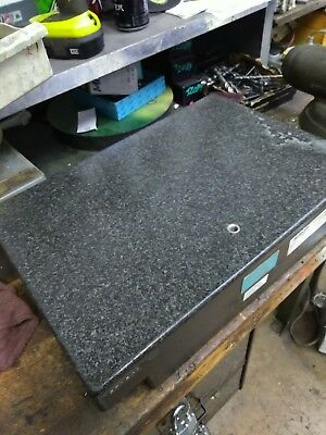 18 inch length. 4 & a half inch thick GRANITE PLATE SURFACE PLATE
