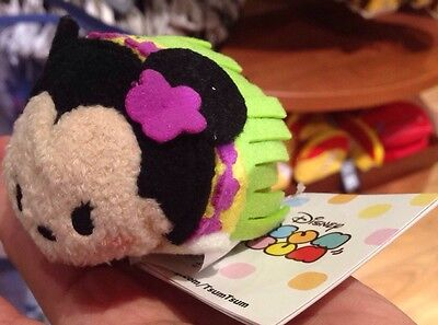 "Hawaii Disney Store ExclUsive Hula Minnie TSUM TSUM 3.5"" Small"