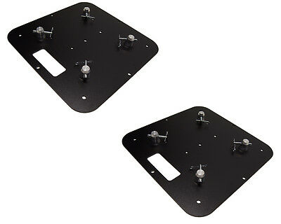 Pair of 18 X 18 Black Base Plate Fits Global Truss F33 F34 F44 SQ and others