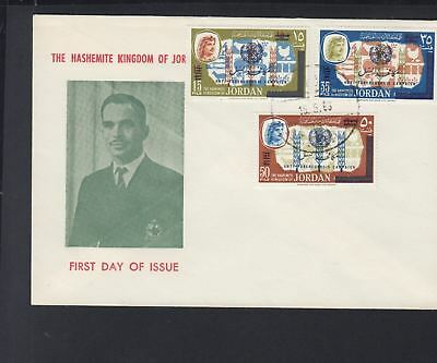 Jordan Satz-FDC The Hashemite Kingdom of Jordan 15.5.65