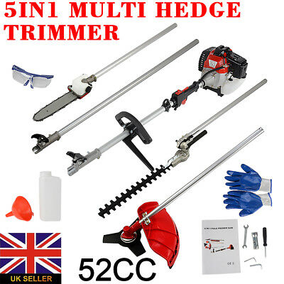 5 in1 Multi Cutter Hedge Trimmer,Chainsaw,Strimmer,Brush Cutter & Extension Pole