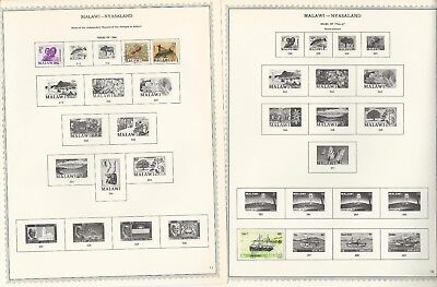 Malawi Collection 1964 to 1984 on Minkus Specialty Pages, Around 90 Pages