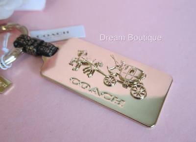 COACH Horse and Carriage Gold Tone Key Ring Key Chain NWT