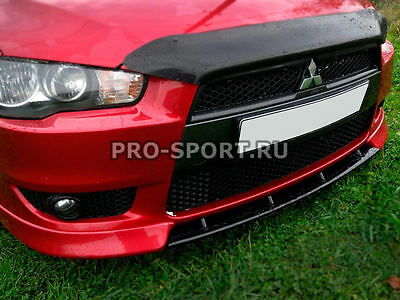 Mitsubishi Lancer X 2007-2016 front bumper central lip spoiler abs