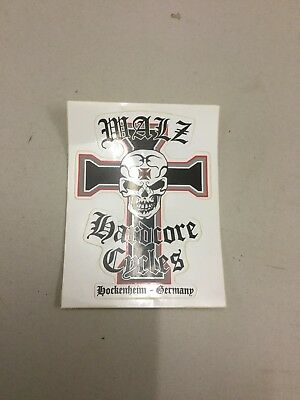 Walz Hardcore Cycles Sticker Aufkleber Werbung Iron Cross Original Markus Walz