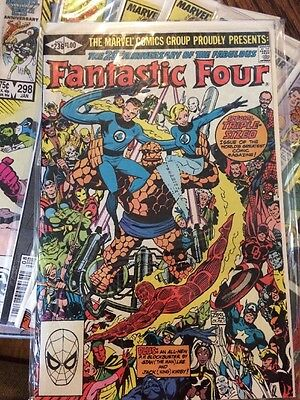 Fantastic Four And Fantastic Four Vs X-Men Lot 236, 285,298,305,306,309,333,334