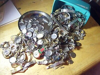 large Lot WATCHES Vintage Movements Steampunk Art or for parts #4