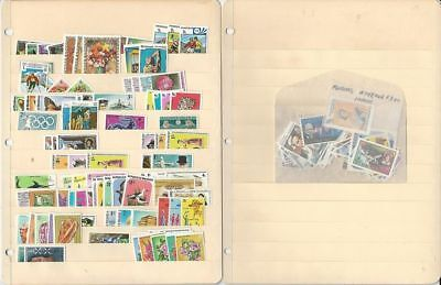 Maldive Islands Collection on 2 Stock Pages, Mint Topicals, Birds, Sports