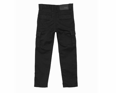 Sale Hugo Boss Kids J24442 09B Cotton Boys Cargo Trouser Black