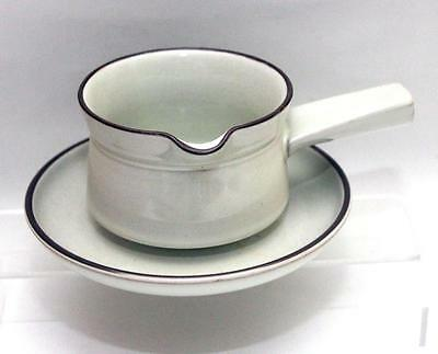 Denby Pottery Summit Pattern Sauce or Gravy Boat with Stand made in Stoneware