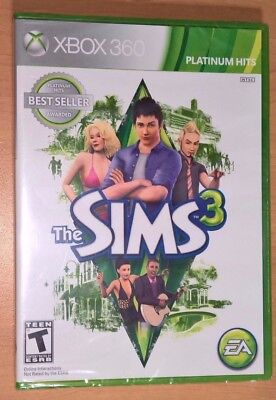 The Sims 3 (Xbox 360) NEW FACTORY SEALED - Platinum Hits Life Sim Video Game