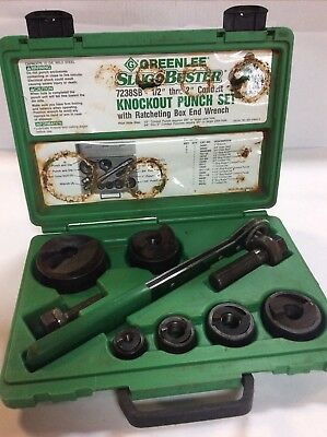 "Greenlee 7238SB Slug Buster Knockout Punch Set (1/2"" - 2"")"