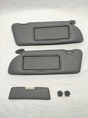 1981-1991 Mercedes Benz W126 3 Series Sun Visor Shade Pair Set Sunvisors Grey